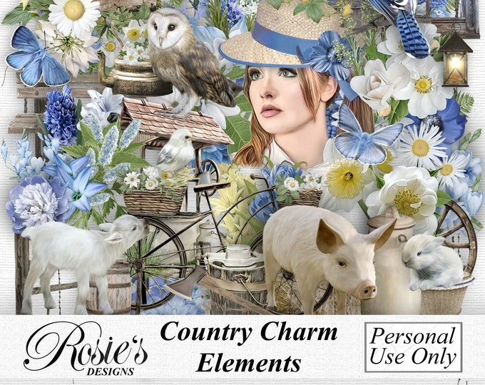 Country Charm Elements Personal Use