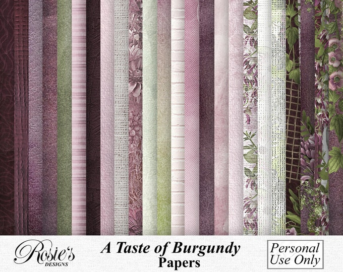 A Taste Of Burgundy Papers Personal Use