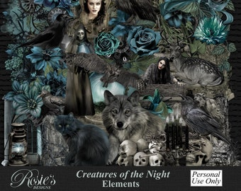 Creatures Of The Night Elements Personal Use
