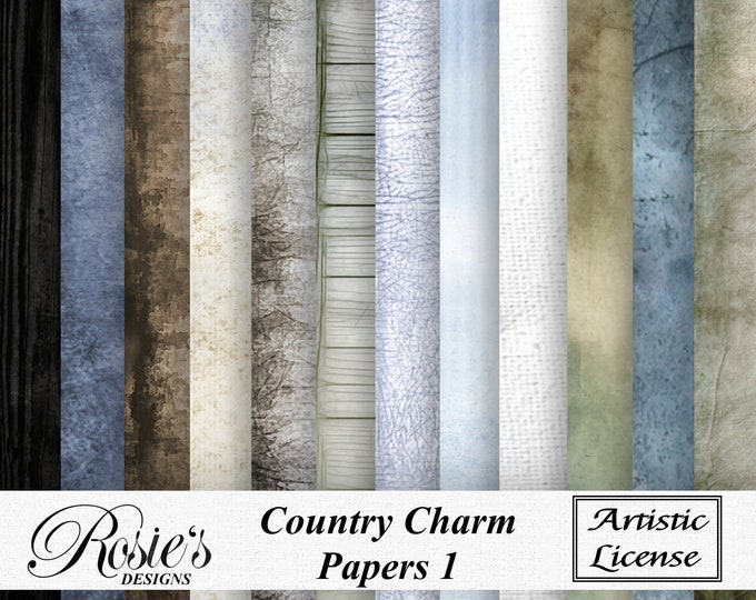 Country Charm Papers 1 Artistic License