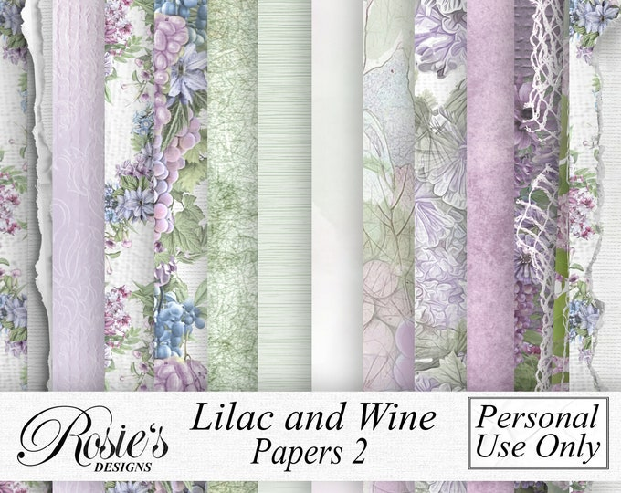 Lilac and Wine Papers 2 Personal Use