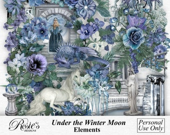 Under The Winter Moon Elements Personal Use