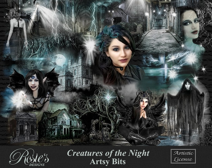 Creatures Of The Night Artsy Bits And Overlays Artistic License
