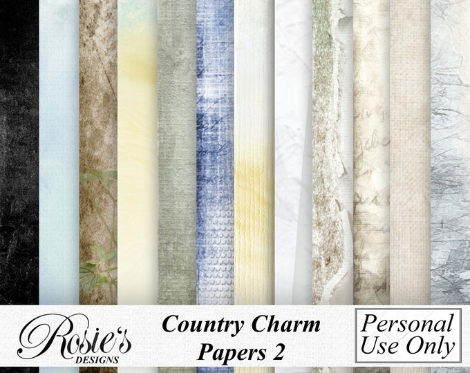 Country Charm Papers 2 Personal Use