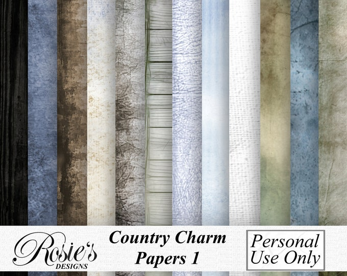 Country Charm Papers 1 Personal Use