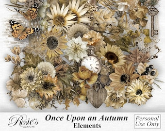 Once Upon An Autumn Elements Personal Use