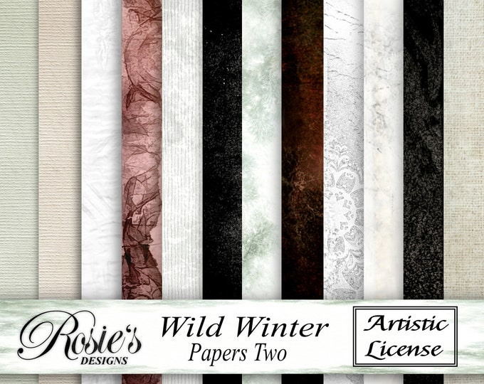 Wild Winter Papers Two - Personal Use