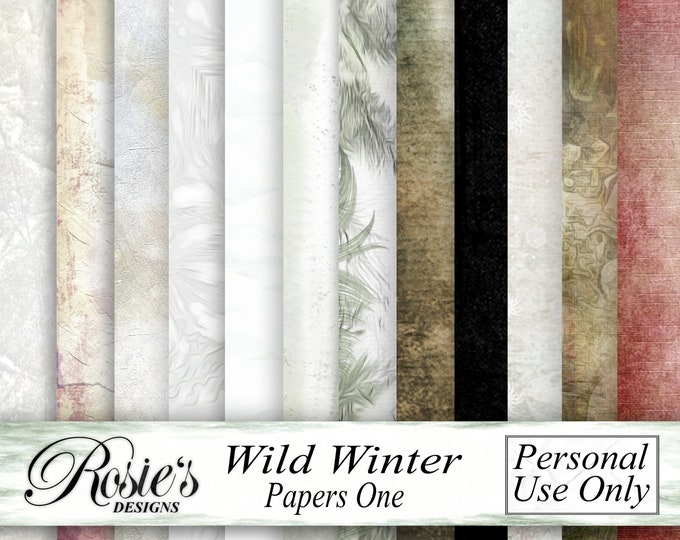 Wild Winter Papers One - Personal Use