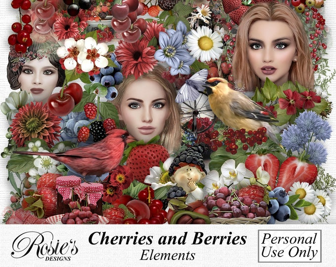 Cherries and Berries Elements Personal Use