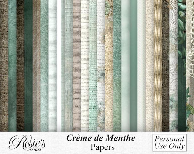 Crème de Menthe Papers Personal Use