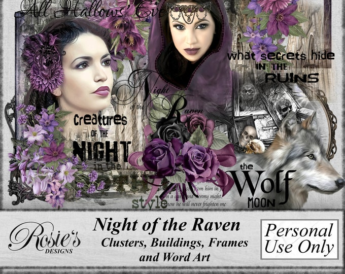 Night of the Raven Clusters, Buildings, Frames and Word Art