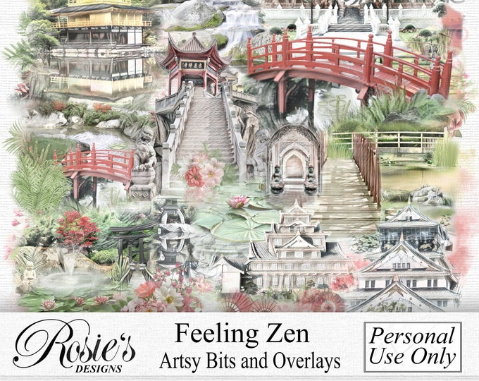 Feeling Zen Artsy Bits and Overlays Personal Use