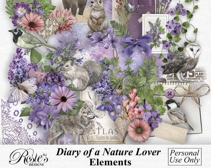 Diary Of A Nature Lover Elements Personal Use
