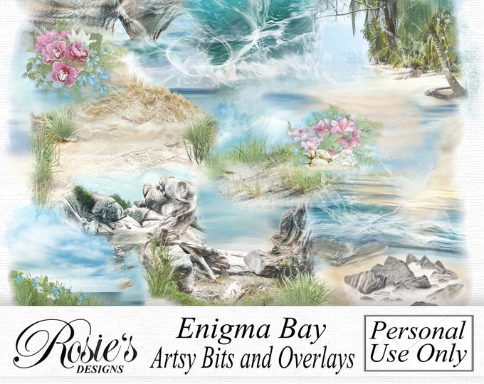 Enigma Bay Artsy Bits And Overlays Personal Use