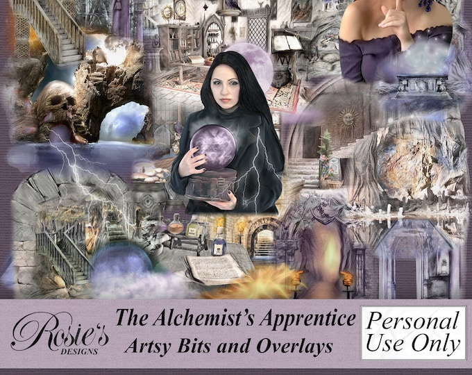 The Alchemist's Apprentice Artsy Bits and Overlays Personal Use