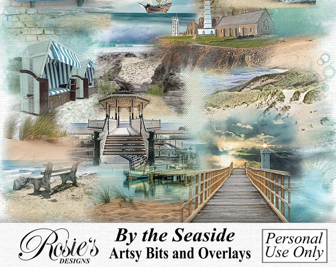 By The Seaside Artsy Bits and Overlays, Personal Use