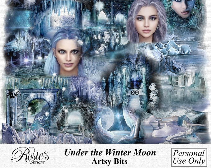 Under The Winter Moon Artsy Bits Personal Use
