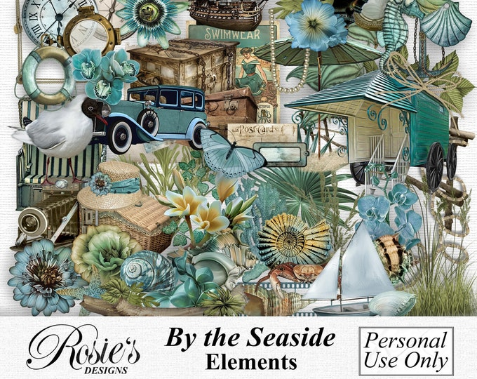 By The Seaside Elements Personal Use