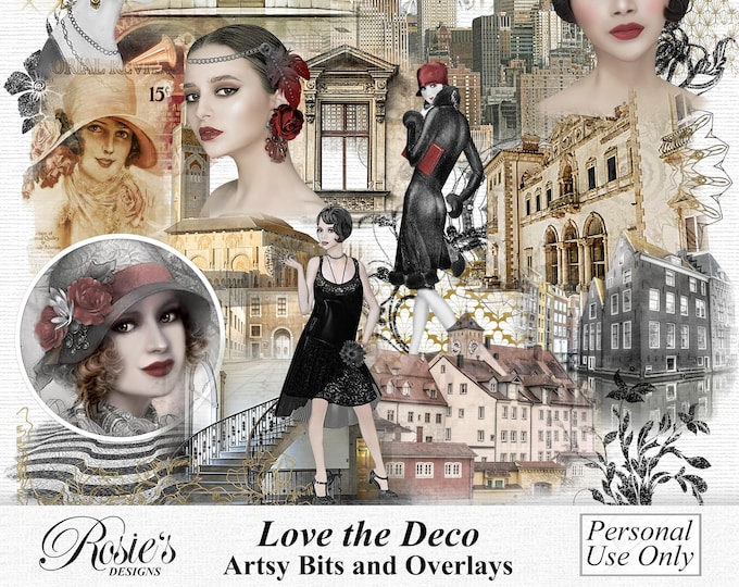 Love The Deco Artsy Bits And Overlays Personal Use