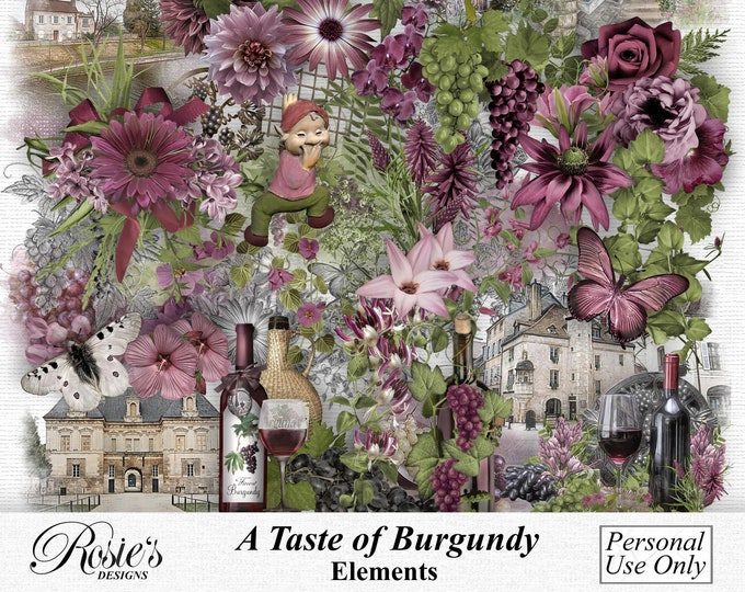 A Taste Of Burgundy Elements Personal Use