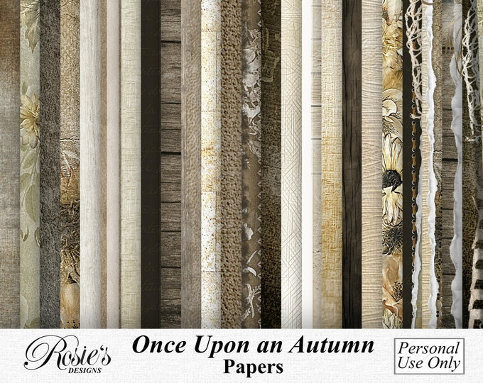 Once Upon An Autumn Papers Personal Use