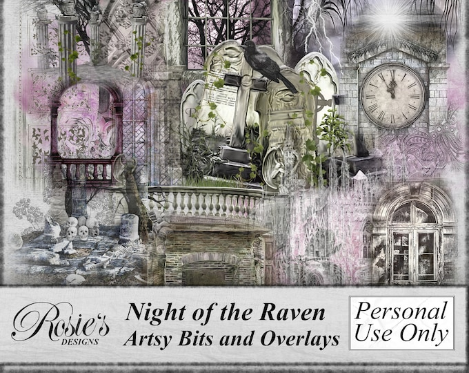 Night of the Raven Artsy Bits and Overlays
