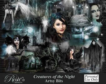 Creatures Of The Night Artsy Bits And Overlays Personal Use