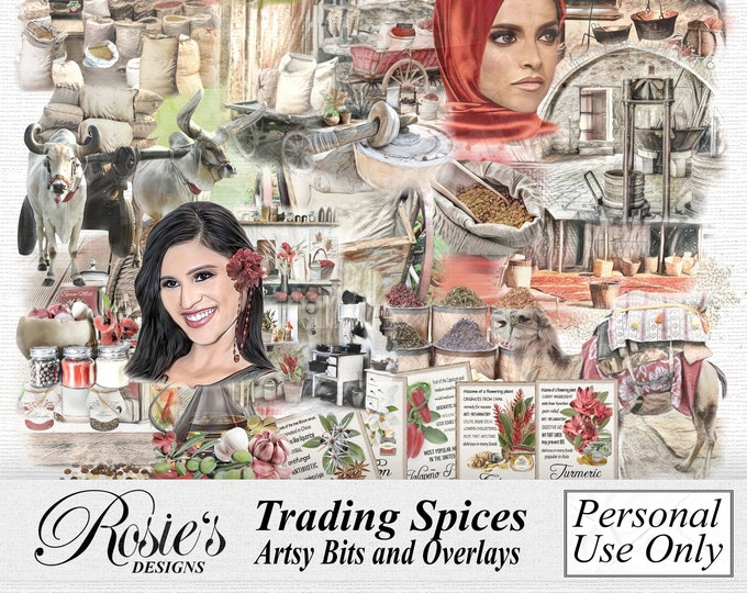 Trading Spices Artsy Bits and Overlays Personal Use