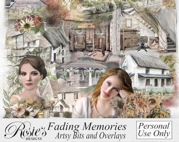 Fading Memories Artsy Bits and Overlays
