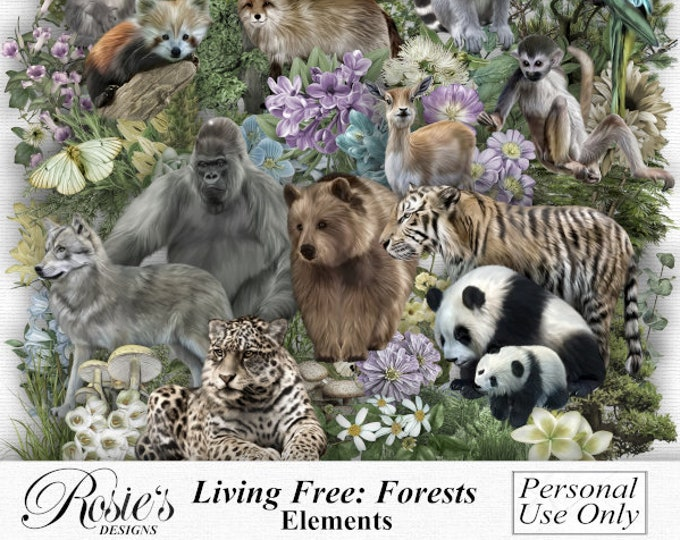 Living Free, Forests. Elements. Personal Use