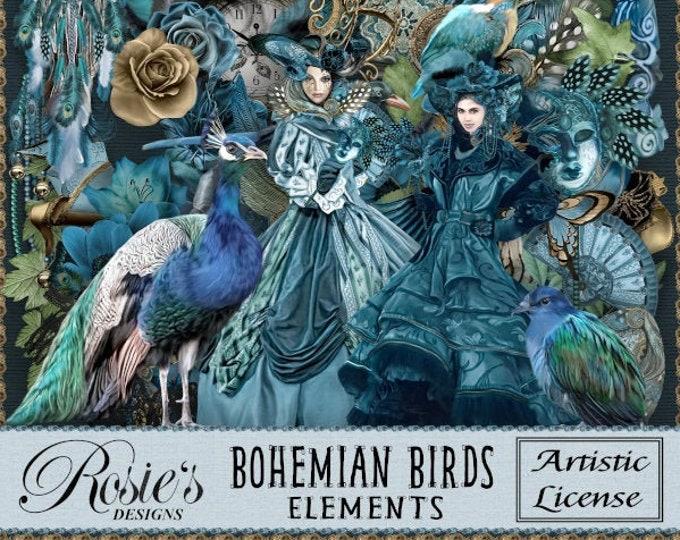 Bohemian Birds Elements Artistic License