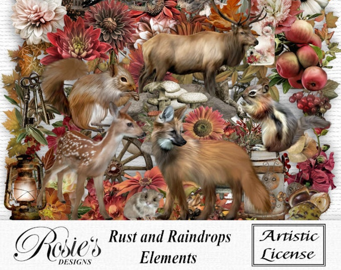 Rust and Raindrops Elements Artistic License