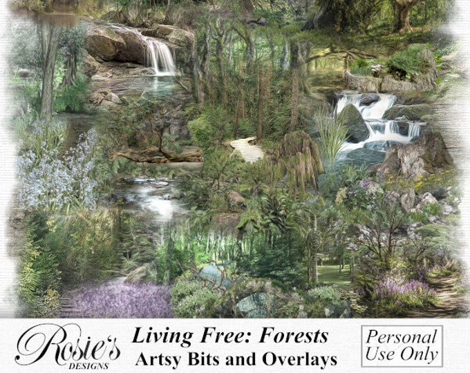 Living Free, Forests. Artsy Bits And Overlays, Personal Use