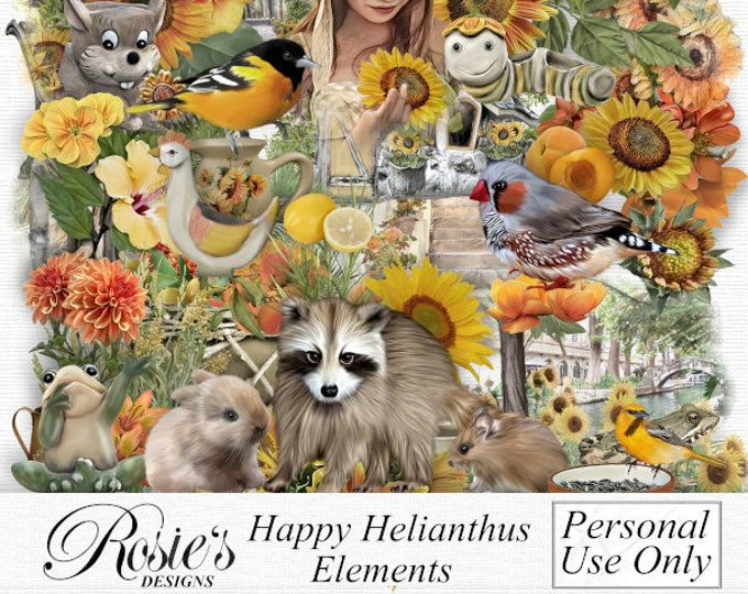 Happy Helianthus Element Personal Use