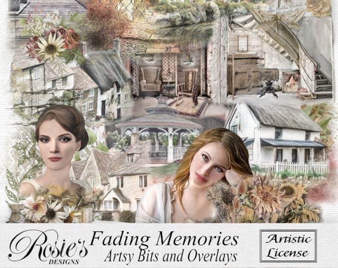 Fading Memories Artsy Bits and Overlays Artistic License