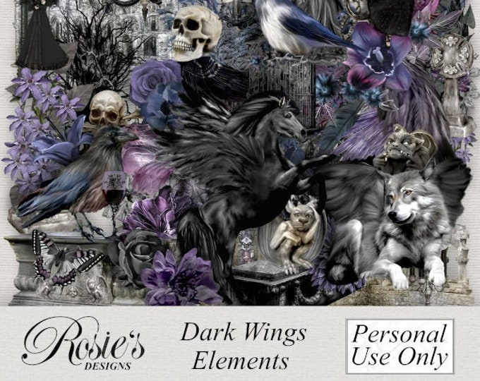 Dark Wings Elements Personal Use