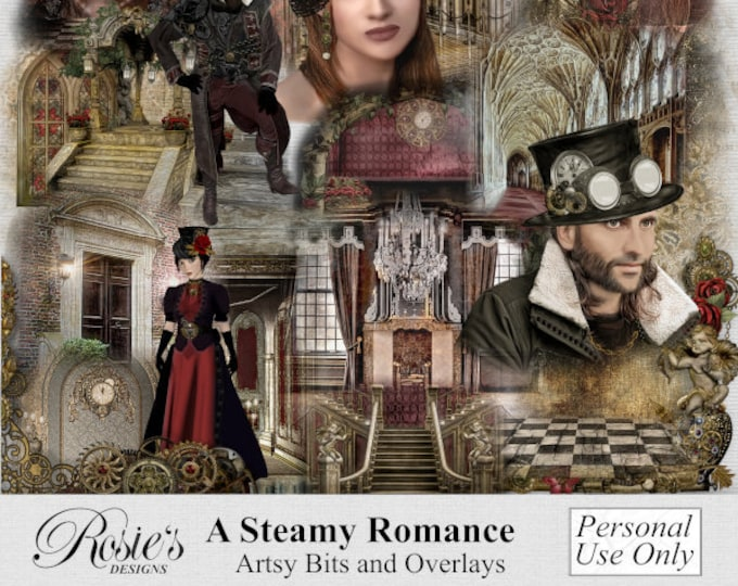 A Steamy Romance Artsy Bits And Overlays Personal Use