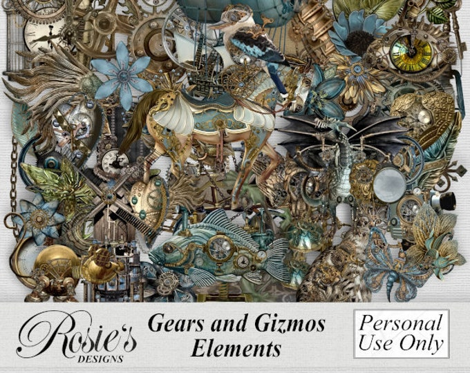 Gears and Gizmos Elements Personal Use