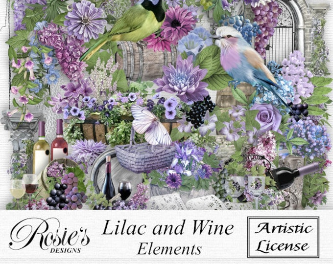 Lilac and Wine Elements  Artistic License