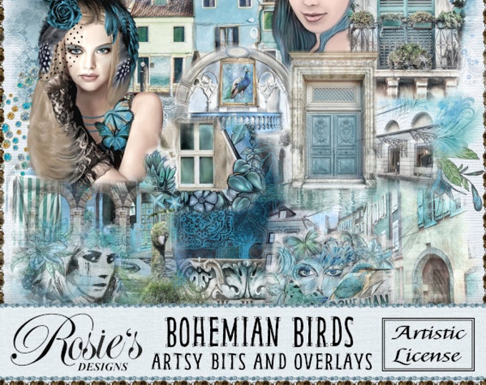 Bohemian Birds Artsy Bits and Overlays Artistic License