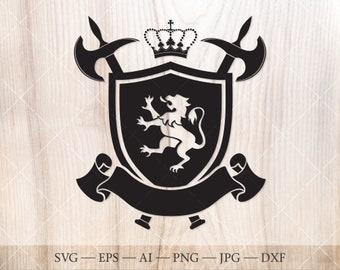 Family crest shield | Etsy