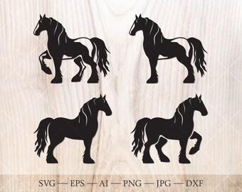 """Gypsy Tinker Horse Sticker TP 1300 Vinyl 6/"""" Sticker"""