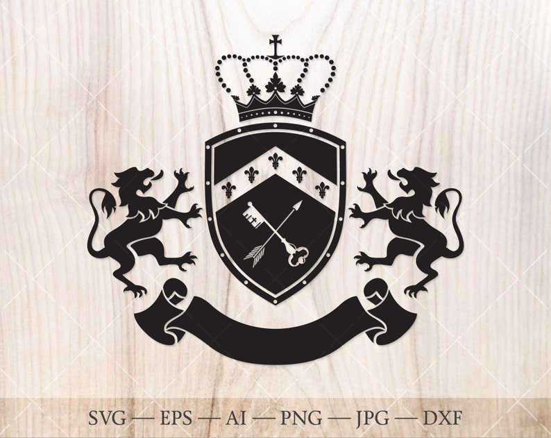 Crest, emblem SVG  Coat of arms clipart  Svg, eps, dxf, png, jpg, Ai