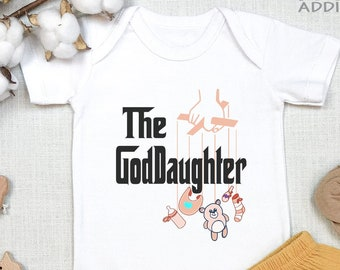 Gift From Godmother Baseball Tee New Baby Baby Shower Gift Christening Gift Goddaughter Godmother Gift for Goddaughter Cotton