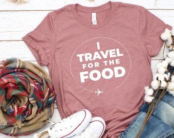 cfbbe4489c58b3 I Travel For Food Shirt, Travel shirt, Adventure shirt, Travel shirts, Food  lover, Food Shirts, Funny shirt, Plus size Oversized Available