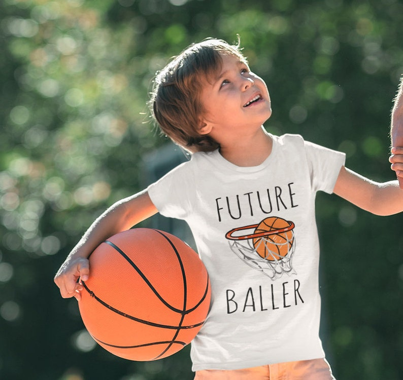 Cute Basketball Outfit Future Baller Oneise Baby Shower Gift Baby Boy Newborn Outfits for Sports Fans Toddler Shirt Basketball Baby