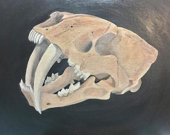 Items similar to Short-faced Bear Skull - 8x10 Signed Art