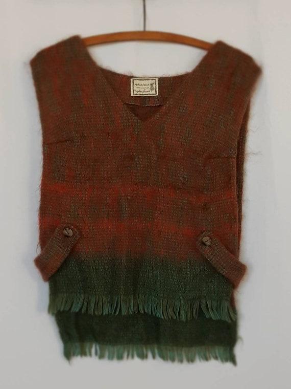 Vintage Mohair Tabard Tunic  Scottish Wool Tabard