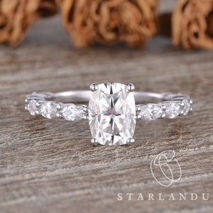 1.5CT With 0.75CT Colorless Round Moissanite White Gold Wedding Ring,Argentium Ring,Silver Ring,Moissanite Engagement Ring,Gifts For Friends