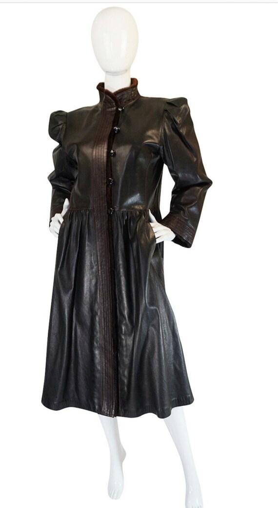 Vintage Yves Saint Laurent Russian YSL Leather Vi… - image 9